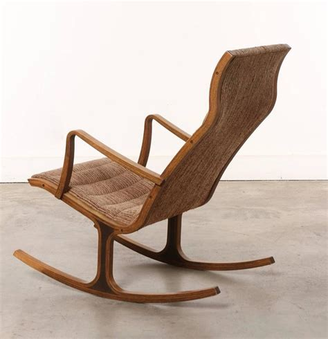 heron rocking chair and footstool by mitsumasa sugasawa