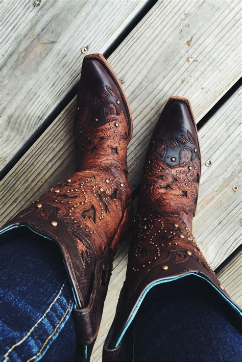 boots corral western cowboy toe brown snip boot stud embellished country cavenders studs cowgirl outfits winter womens wedding turquoise wear