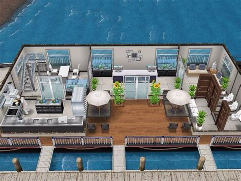 house 52 boat restaurant ground level sims