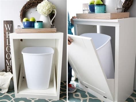 inside cabinet trash can 29 sneaky ways to hide a trash can in your kitchen digsdigs