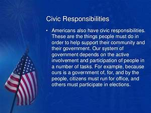 Personal and civic responsibilities