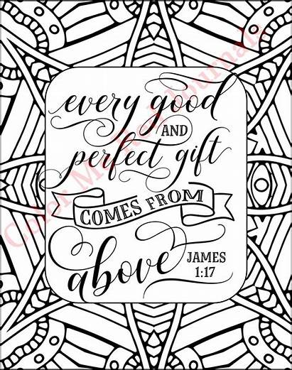 James Coloring Christian Word Wall Pages Inspirational