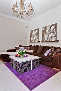 Purple Scandinavian Living Room Design Ideas