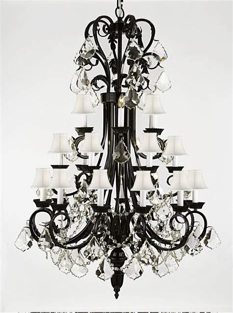 foyer entryway wrought iron chandelier lighting