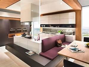 Moderne Küchen Bilder : k che trifft wohnraum ~ Markanthonyermac.com Haus und Dekorationen