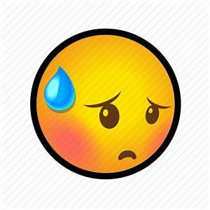 Embarrassed, emoticon, face, shy, smiley icon