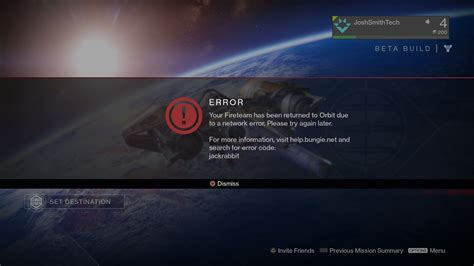 solutions  fixing destiny  error code baboon error