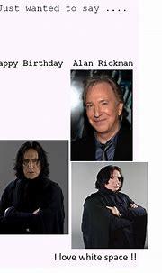 Severus Snape Birthday