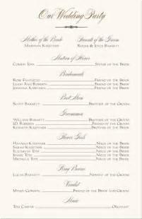 wedding reception program template wedding programs wedding program wording program sles program exles wedding program templates
