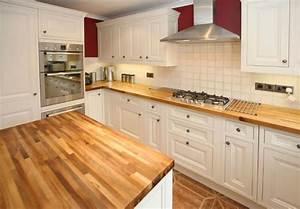 Plan De Travail Cuisine En Bois : cuisine plan de travail en lot de cuisine classique clair en bois massif ~ Melissatoandfro.com Idées de Décoration