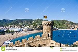 Costa Brava, Beach And Medieval Castle In Tossa De Mar ...