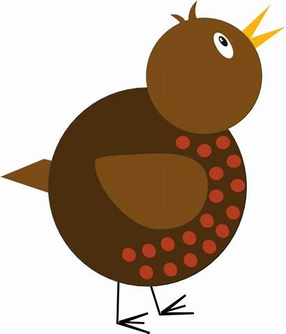 Robin Shapes Whimsical Simple Clip Clipart Drawing