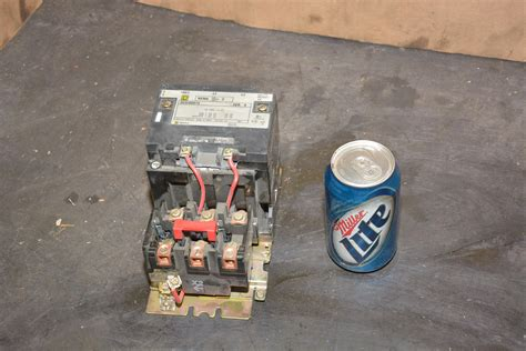 new square d type 8536sd01s size 2 25 hp 3 phase motor starter