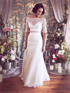 stunning 3 quarter sleeve lace wedding dress With three quarter sleeve wedding dress