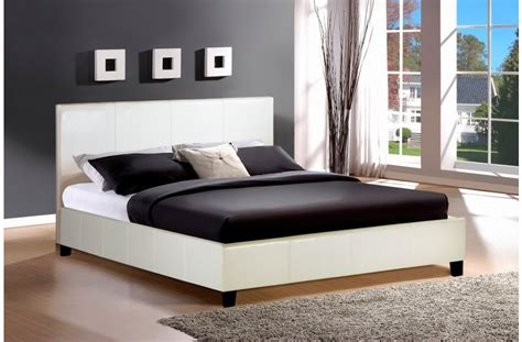 double faux leather bed frame blackbrownwhite