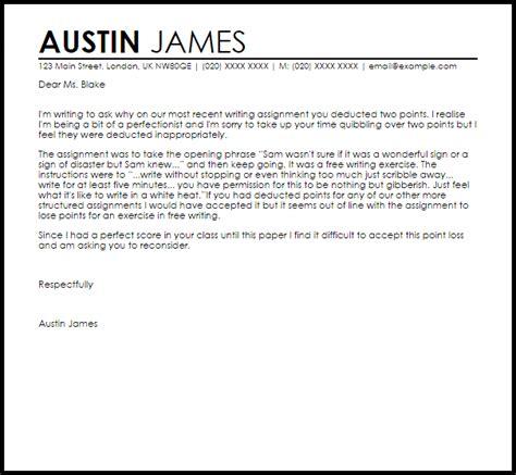 grade appeal letter appeal letters livecareer