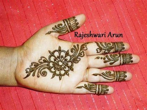 simple easy henna mehndi designs  hands step  step