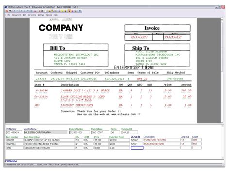 invoice data capture invoice template ideas
