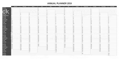 calendario annuale 2019 da stare gratis year planning calendar for 2019 in annual planner