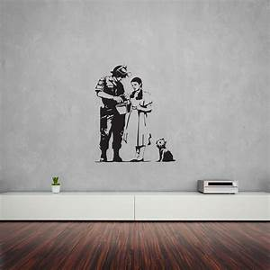 banksy oz stop and search wall art decal vinyl revolution With banksy wall art