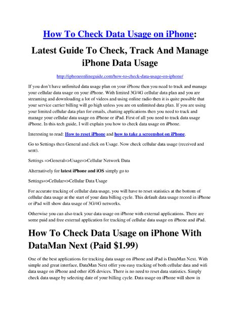 how to check data on iphone how to check data usage on iphone authorstream
