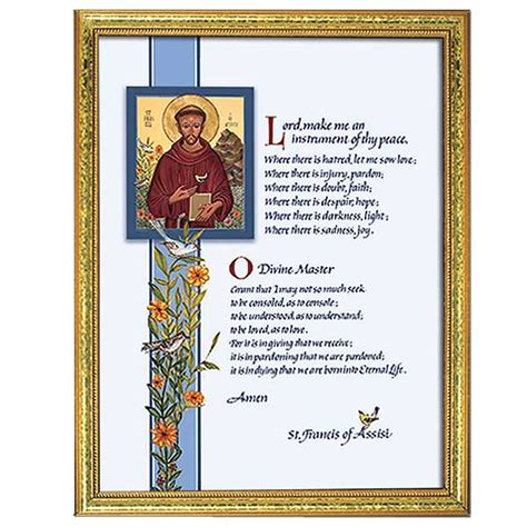 prayer  st francis framed print