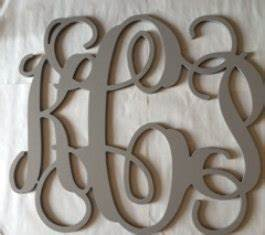 items similar to painted monogram extra large wall With cursive wooden letters for walls
