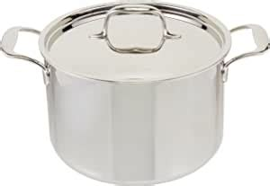 amazoncom kitchenaid tri ply stainless steel  quart stockpot  lid cookware stainless