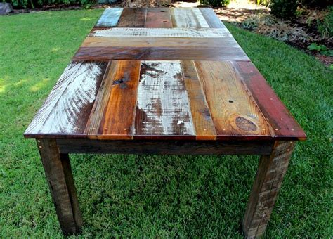 cheap rustic kitchen tables reclaimed wood dining table design with an edge