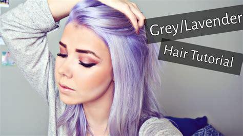 greylavender hair tutorial regrowth bleaching toning
