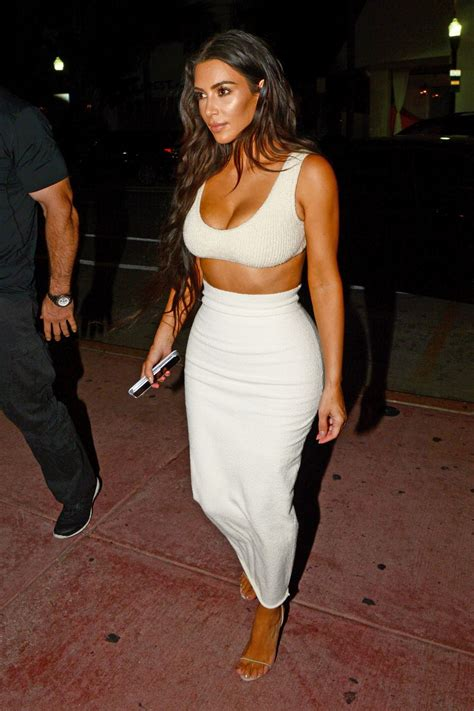 Kim Kardashian Looks Surprisingly Covered Up in This Yeezy-Inspired All White Outfit | White ...