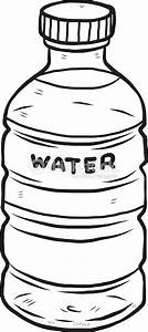 Bottle Of Water Clipart Black And White - ClipartXtras