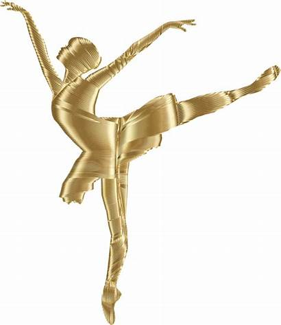 Silhouette Clipart Background Gold Dancer Ballerina Clip
