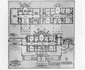 The White House Blueprints by Truman Library Photograph White House Floor Plan