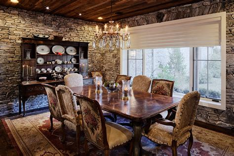 hill country ranch estate rustic dining room austin