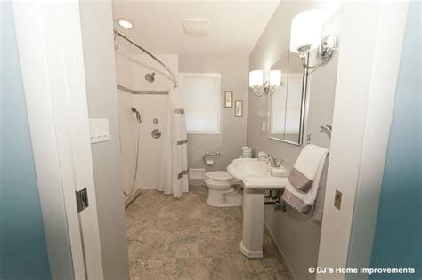universal bathroom design universal design bathroom remodel by dj 39 s home improvements contemporary bathroom new york