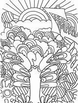 Sunrise Coloring Crazy Trippy Frog Getcolorings Printable Getdrawings Colorings sketch template