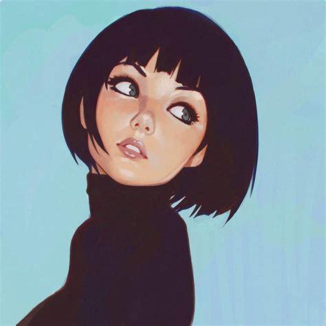 Hotline Miami 2 Background Big Eyes Black Hair Drawing Girl Short Hair Image 2861923 By Woondergirl On Favim Com