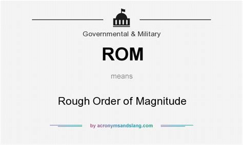 rom rough order  magnitude  business finance
