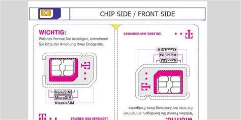 weniger plastikmuell telekom verkleinert sim karte