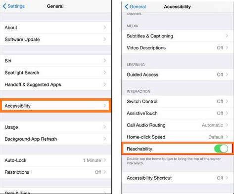 turn accessibility iphone how to use or disable turn reachability in iphone 6 6