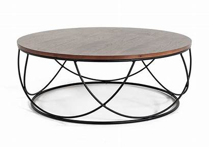 Coffee Round Walnut Tables Modrest Furniture Strang