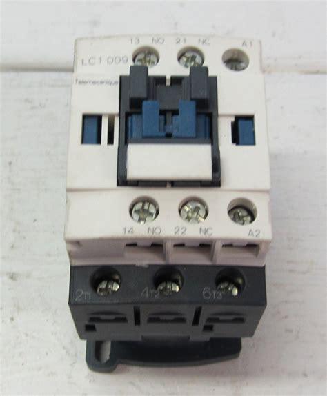 telemecanique lc1d09g7 lc1 d09g7 9 690 volt contactor 1 n o 1 n c 7 5 hp max 120 vac