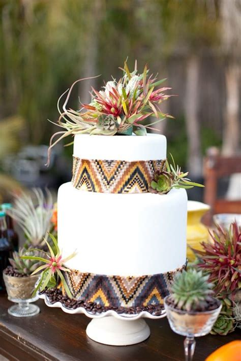 picture  delicious  beautiful boho chic wedding cake