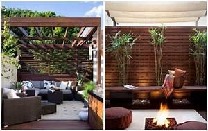 amenager son jardin et terrasse 52 idees pour votre oasis With amenager une terrasse exterieure 13 brise vue balcon decoration exterieure de votre terrasse