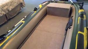Intex seahawk 4 wood floor bench seat finished youtube for Seahawk 4 floor dimensions