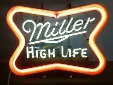Vintage MILLER HIGH LIFE Flashing Neon beer SIGN bar
