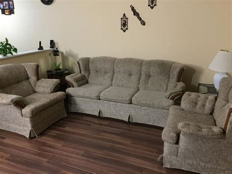 sofa and 2 matching chairs west