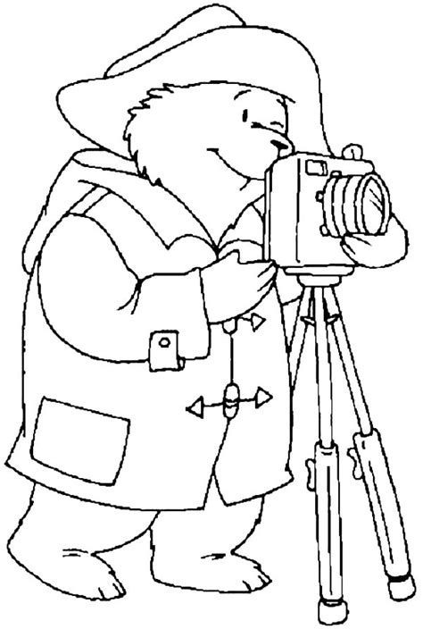 paddington   camera  photography coloring page