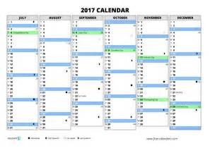 2017 Calendar with Week Numbers